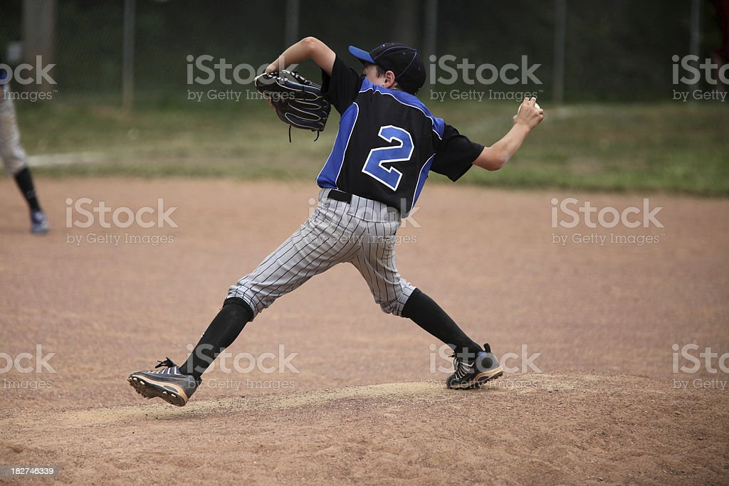 Young pitcher royalty-free stock photo