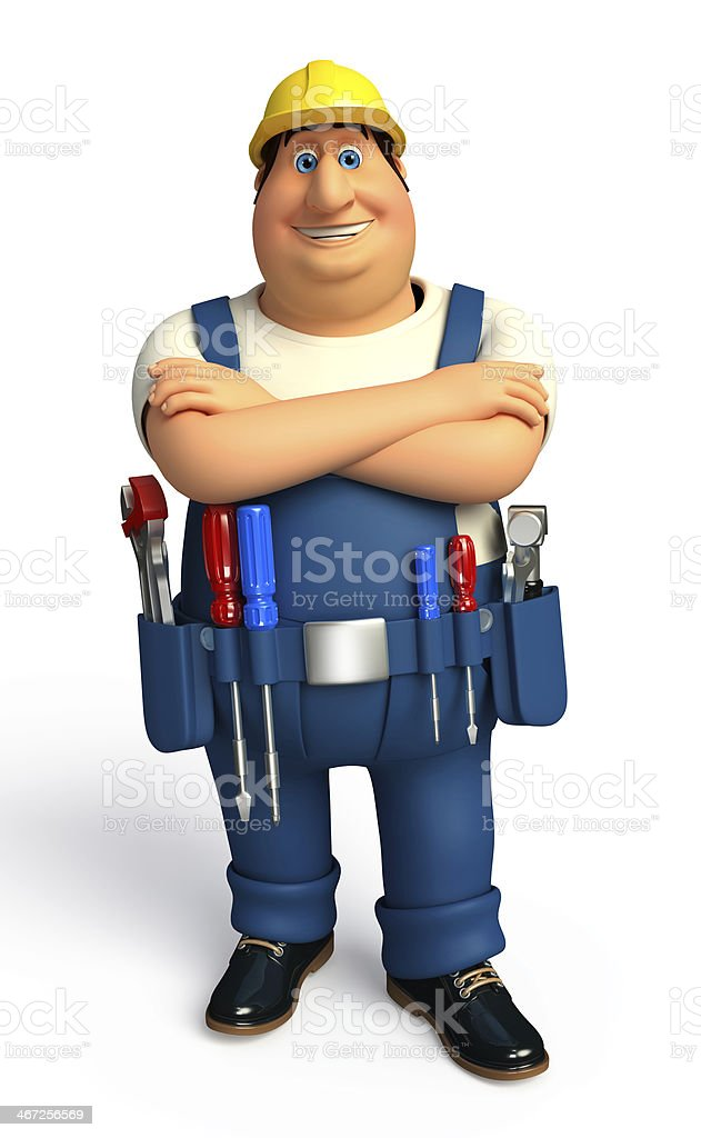 Young Plumber royalty-free stock photo