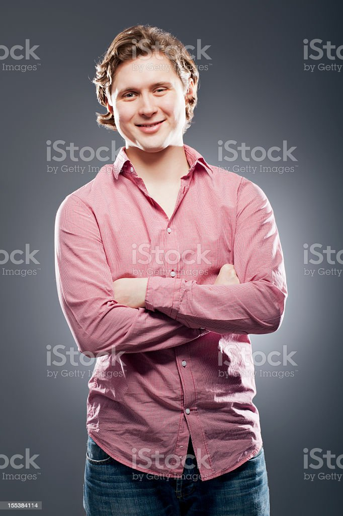 Young positive man royalty-free stock photo