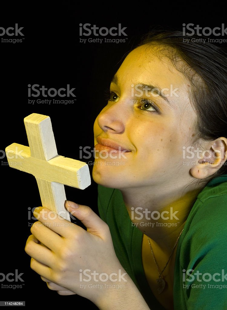 Young prayer stock photo