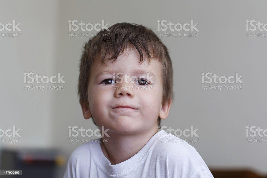 Young preschooler boy at home royalty-free stock photo