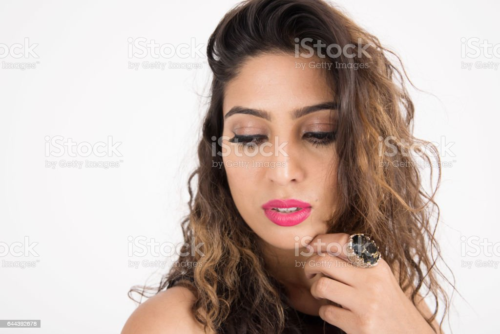 Young pretty girl stock photo