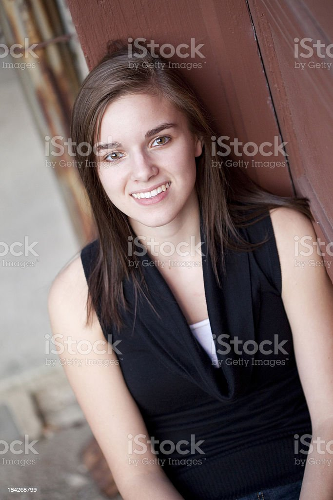 Young Pretty High School Senior royalty-free stock photo
