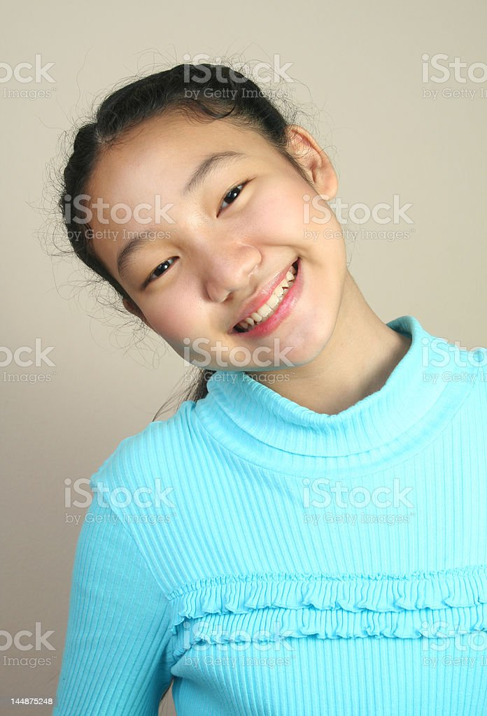 Young pretty teenage (series) royalty-free stock photo