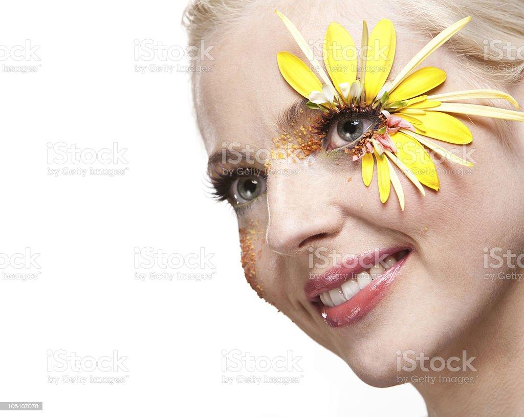 Young pretty woman art portrait royalty-free stock photo