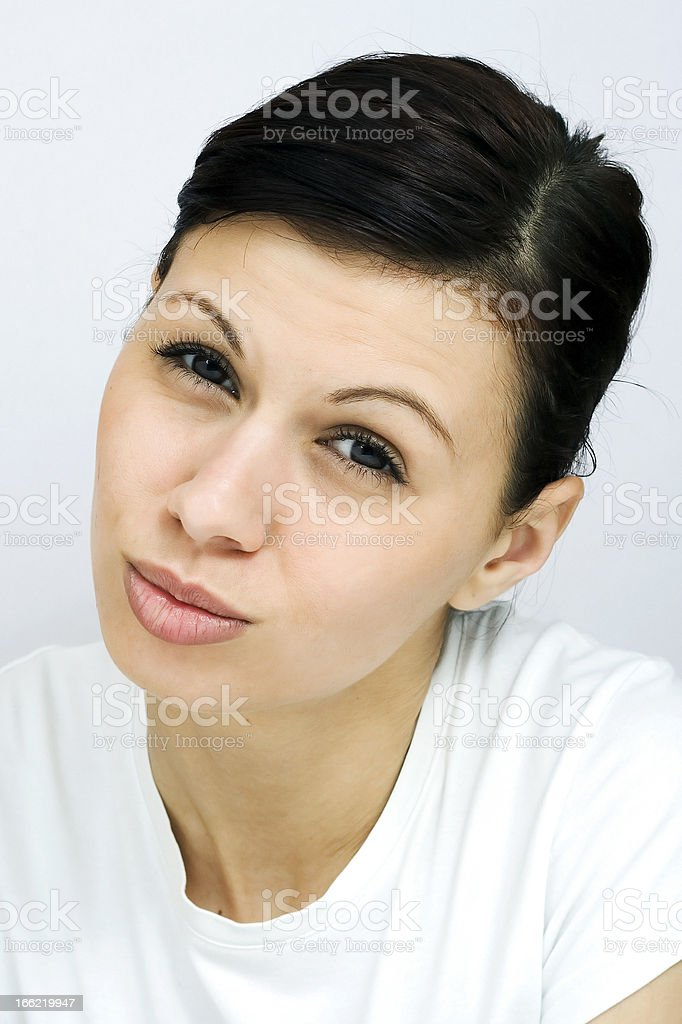 Young pretty woman royalty-free stock photo