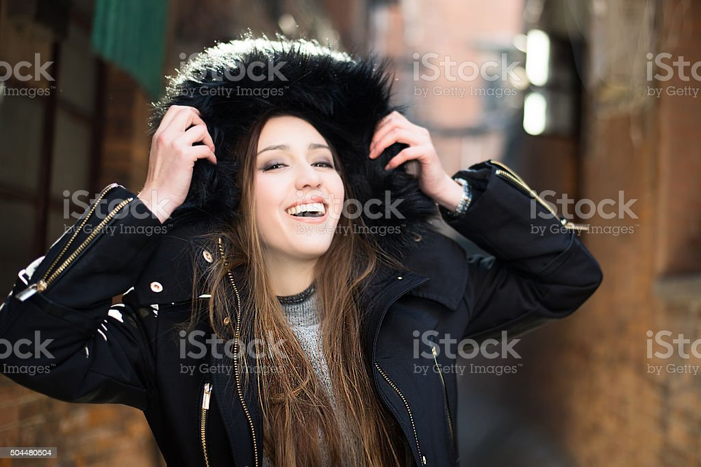 Young pretty woman stock photo