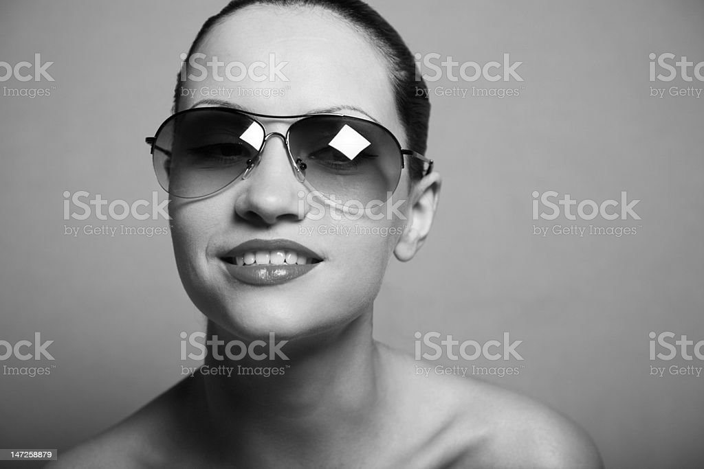 Young pretty woman with glasses royalty-free stock photo