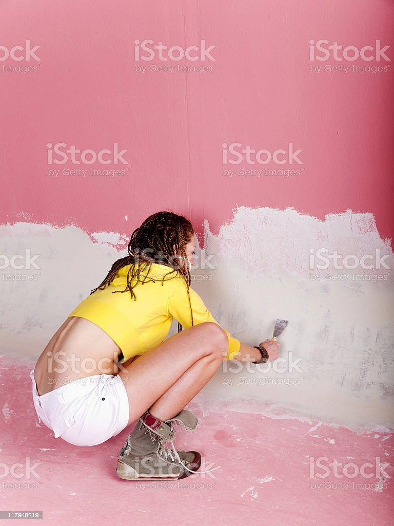 Young pretty woman working royalty-free stock photo