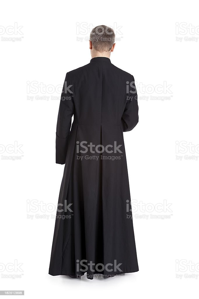 young priest stock photo