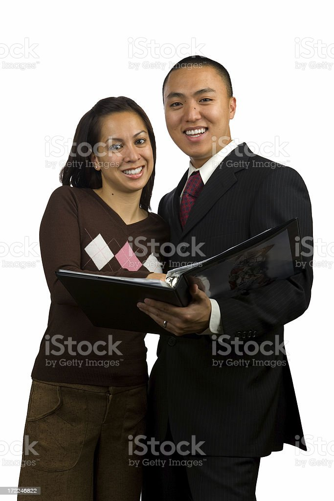 Young Professional Couple royalty-free stock photo