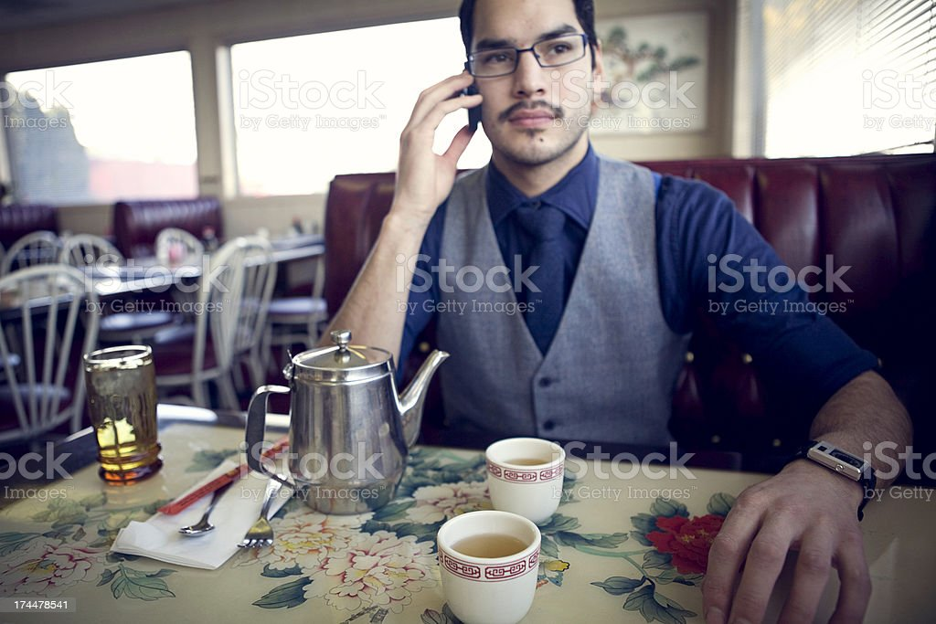 Young Professional Man on a Lunch Break stock photo