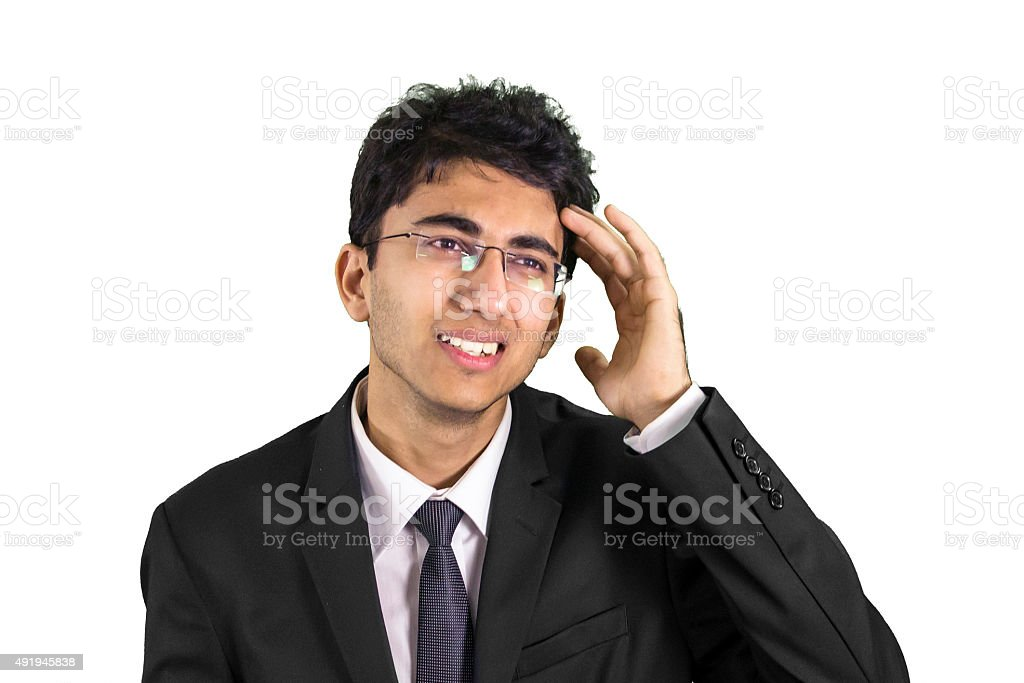 Young professional suffering from headace stock photo