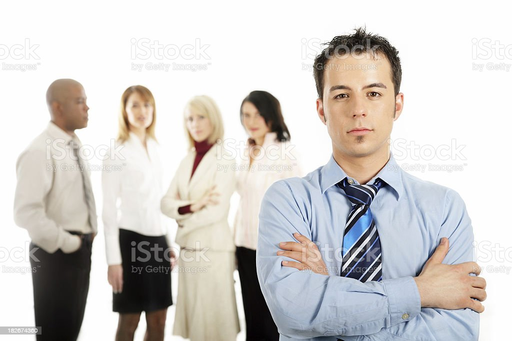 Young professional with his team I royalty-free stock photo