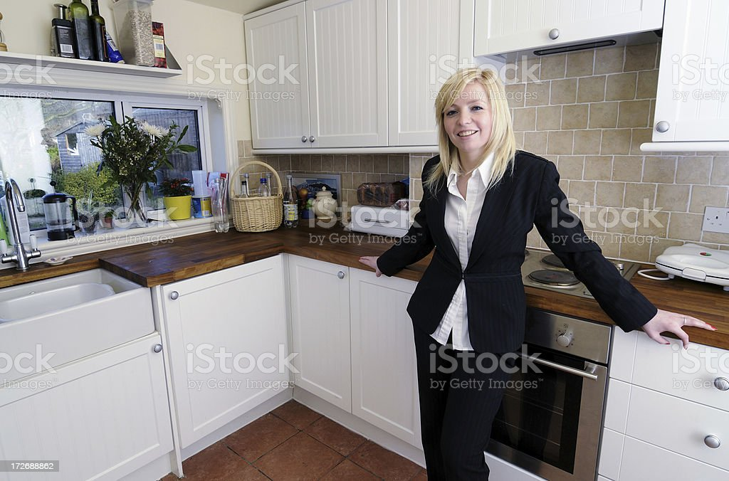 Young Professional Woman at Home royalty-free stock photo