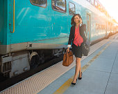 Young Professional Women Walking At The Train Station