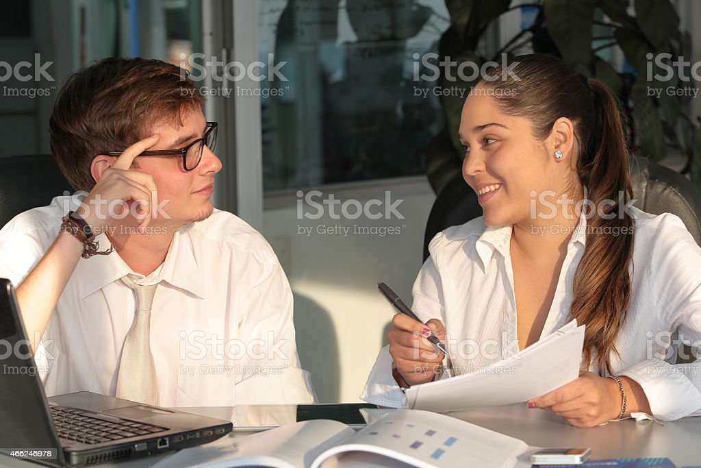 Young Professionals Working Together stock photo