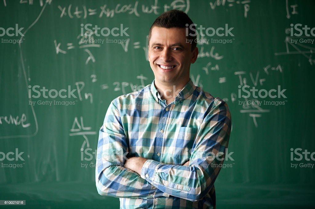 young professor stock photo