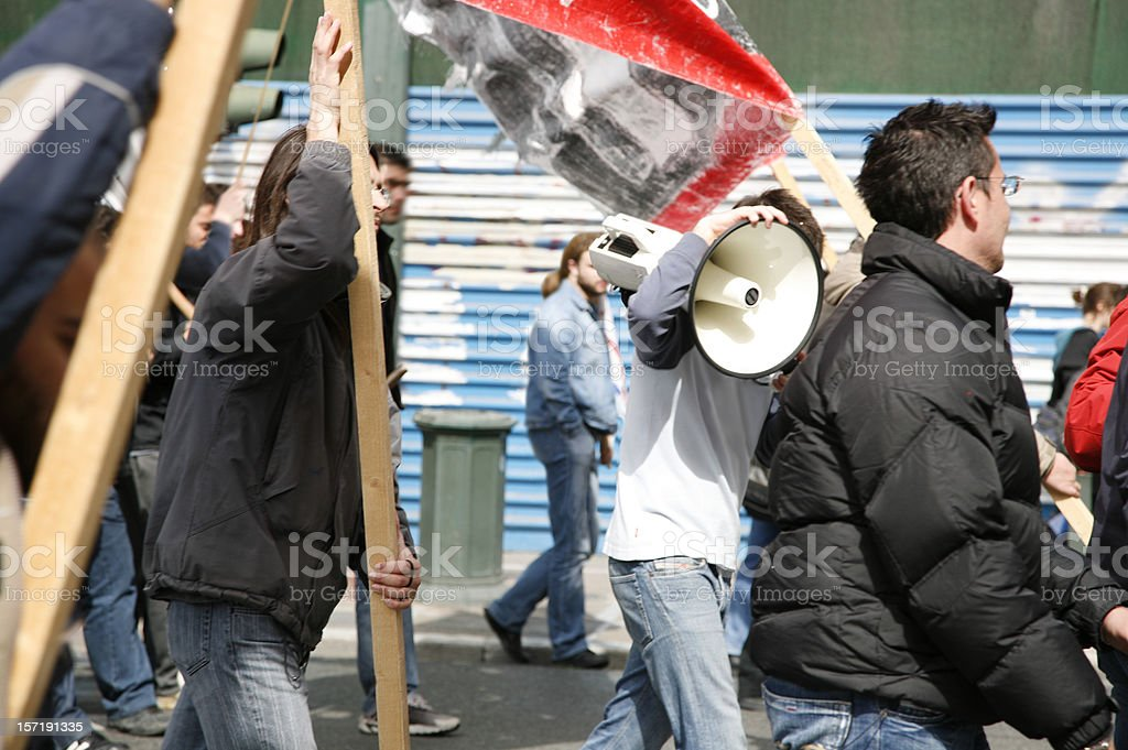 Young protestors royalty-free stock photo