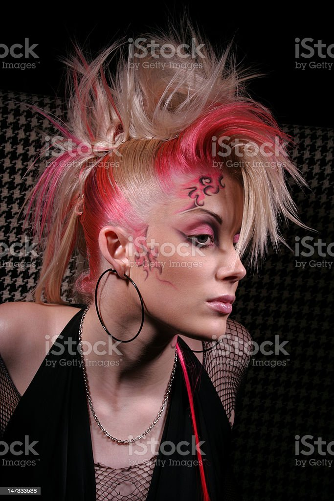 young punk girly stock photo