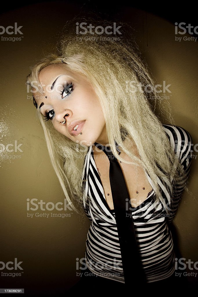 Young punk lady posing royalty-free stock photo