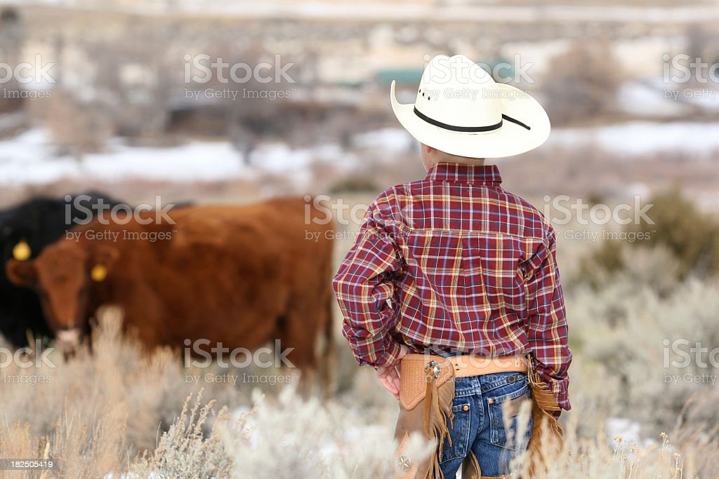 Young Rancher royalty-free stock photo