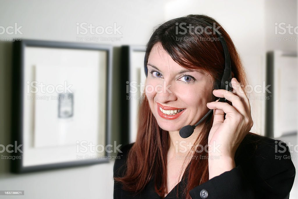 Young Receptionist royalty-free stock photo