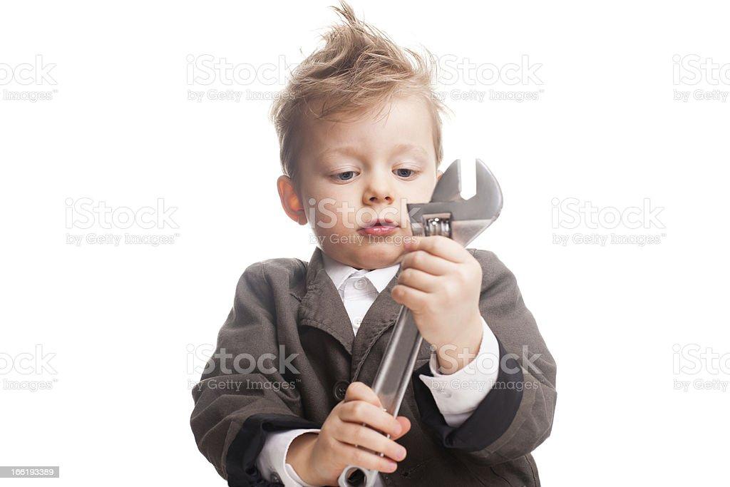 Young repairman royalty-free stock photo