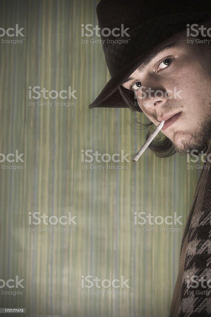 young retro man stock photo