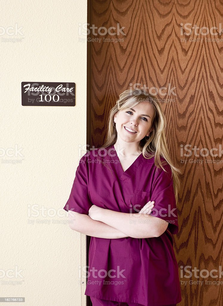 young rn at work royalty-free stock photo