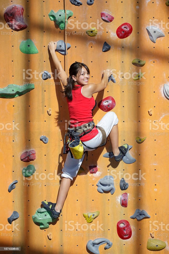 Young Rock Climber royalty-free stock photo