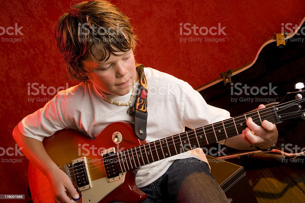 Young Rock Star royalty-free stock photo