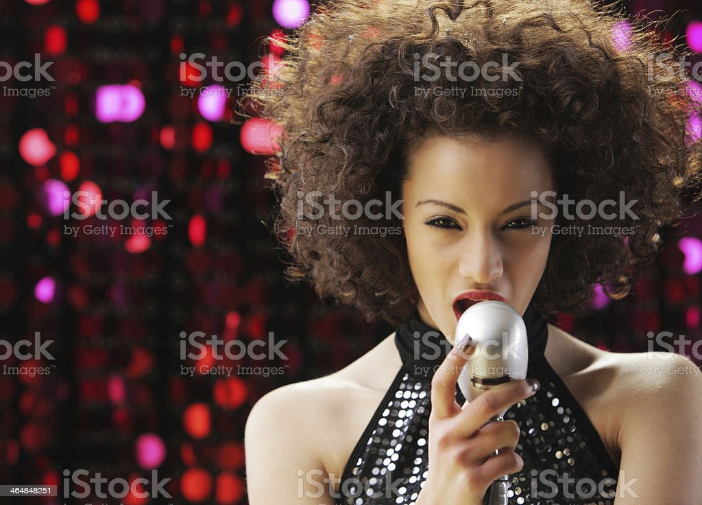 Young Rock star stock photo