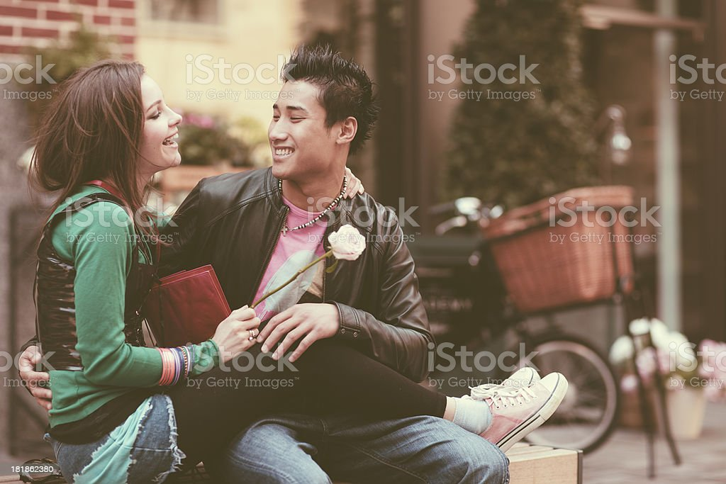 Young romance royalty-free stock photo