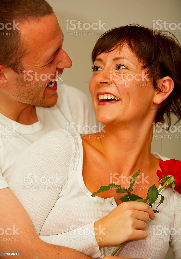 A young romantic couple royalty-free stock photo