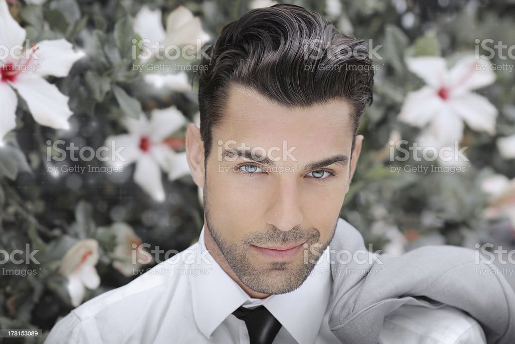 Young romantic man stock photo