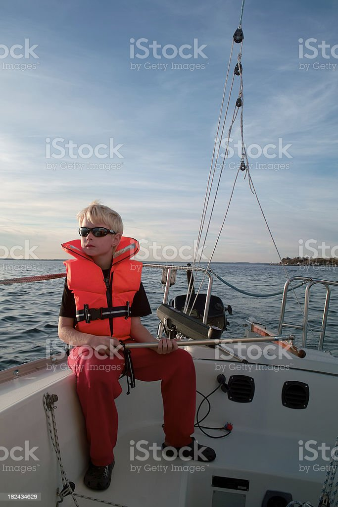 Young sailor royalty-free stock photo