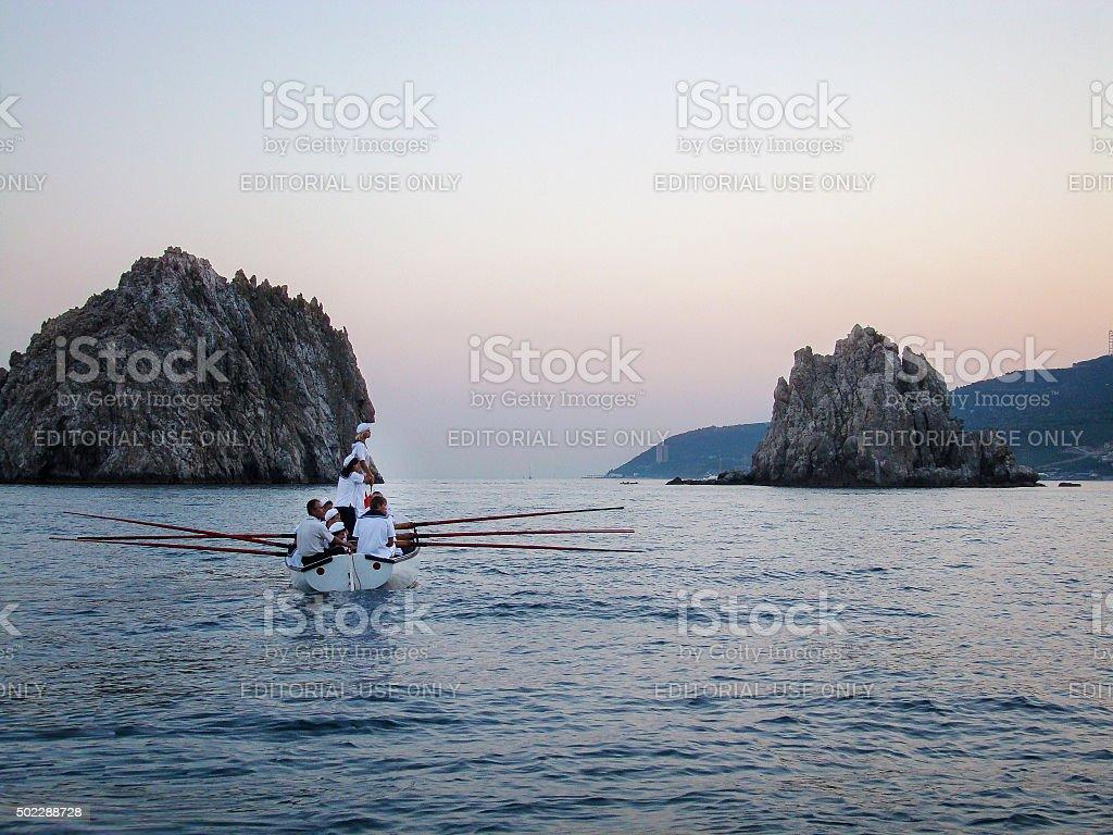 Young sailors stock photo
