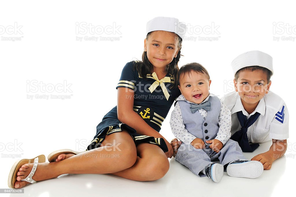 Young Sailors Three stock photo