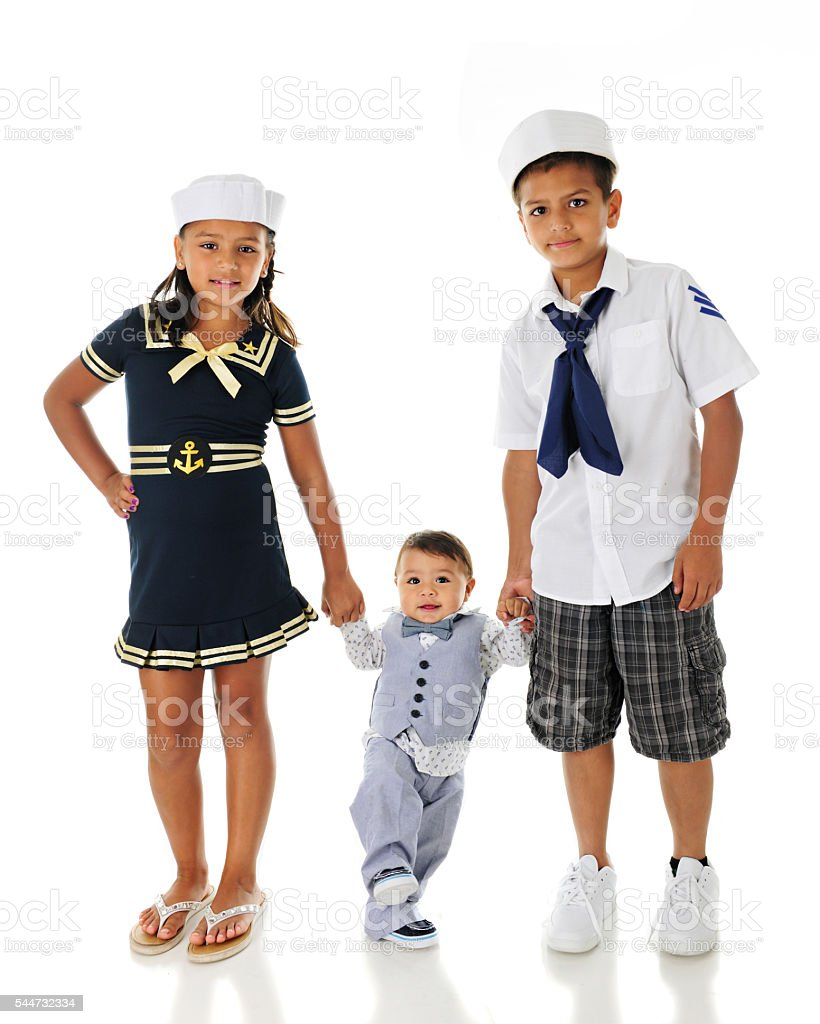 Young Sailors Walking stock photo