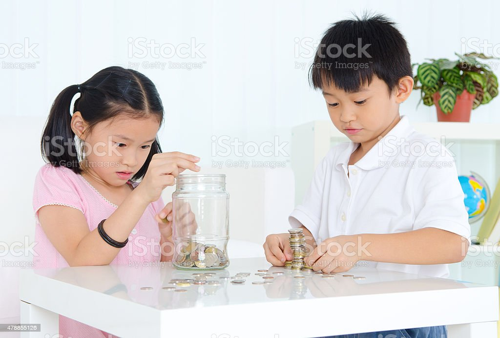 Young savers stock photo