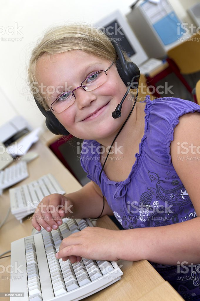 Young School Girl stock photo