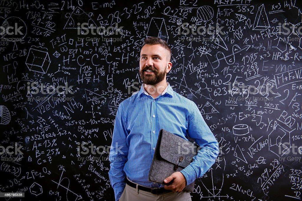 Young school teacher stock photo