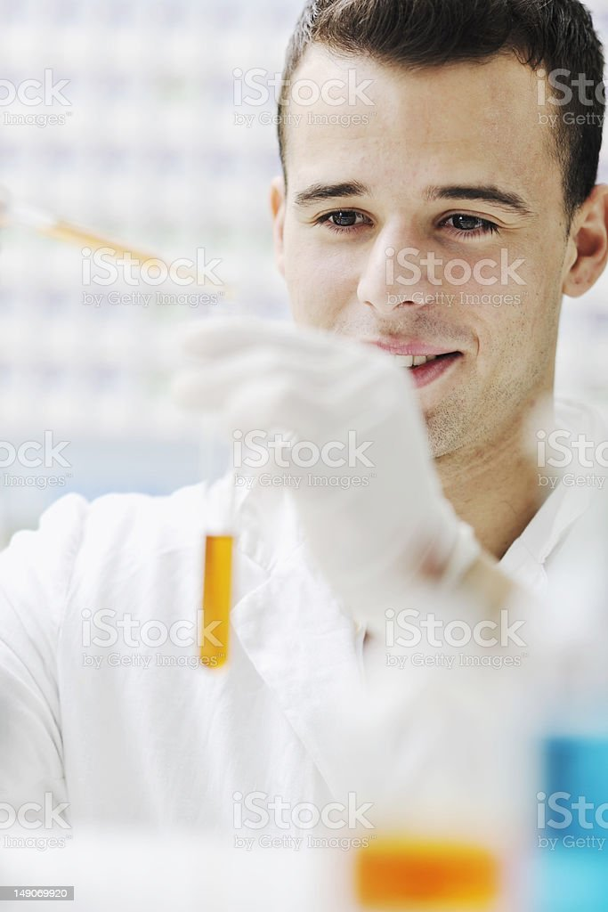 young scientist in lab royalty-free stock photo