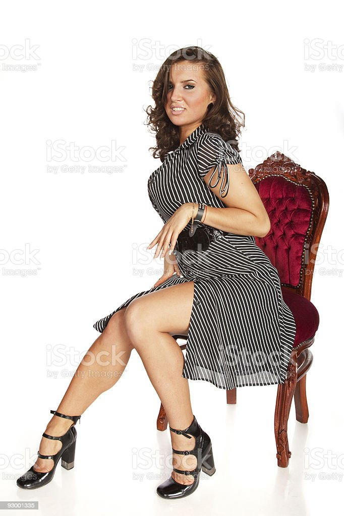 Young seducing woman portrait royalty-free stock photo
