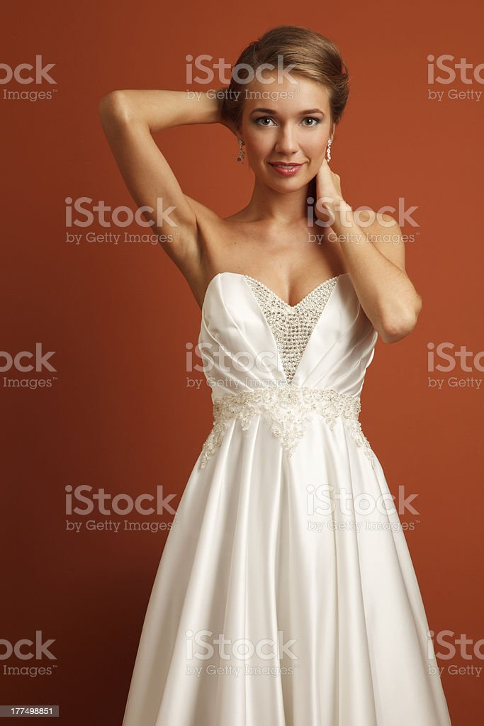 Young sensual bride royalty-free stock photo