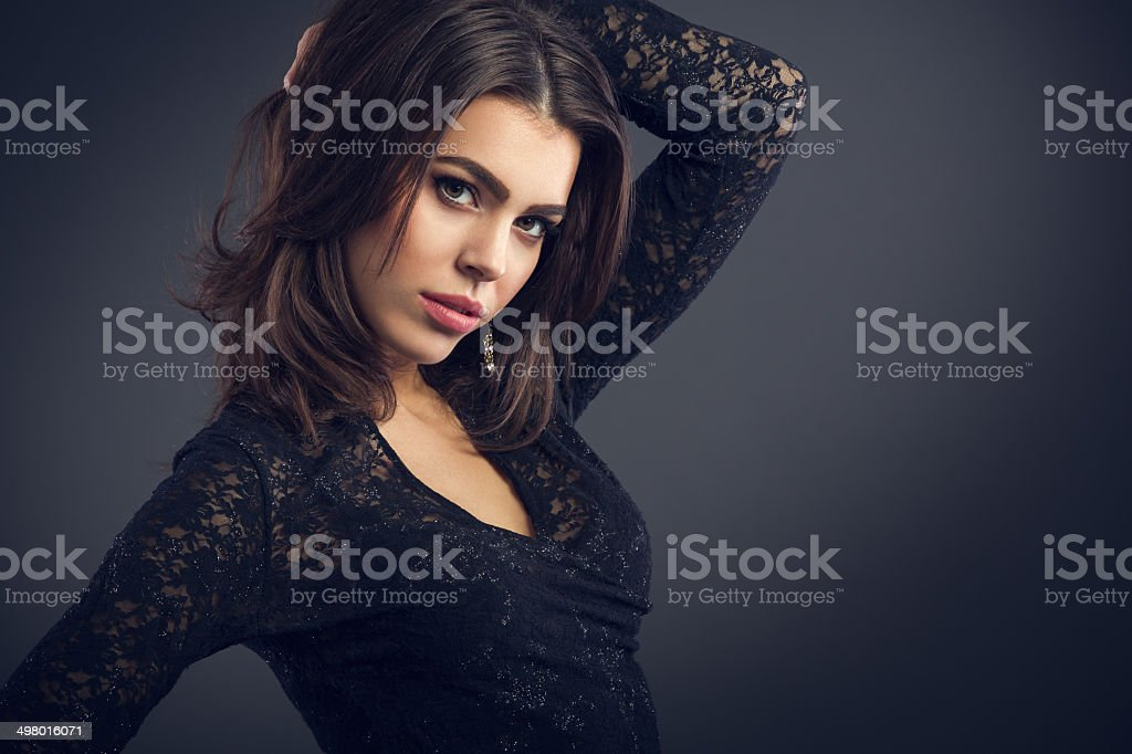Young sensual  woman stock photo