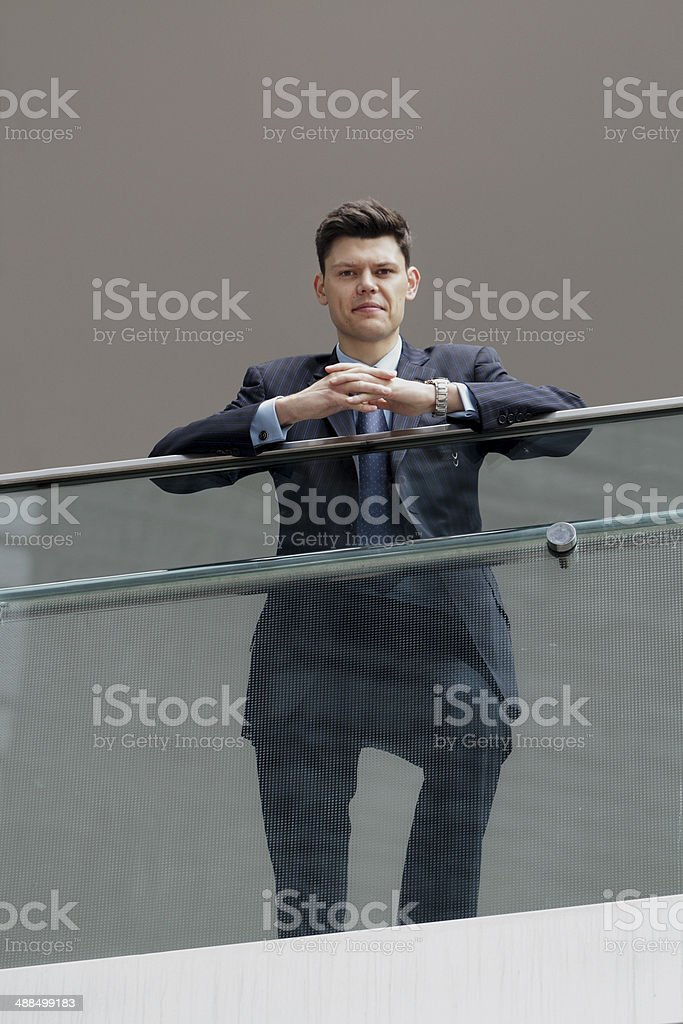 Young serious businessman royalty-free stock photo