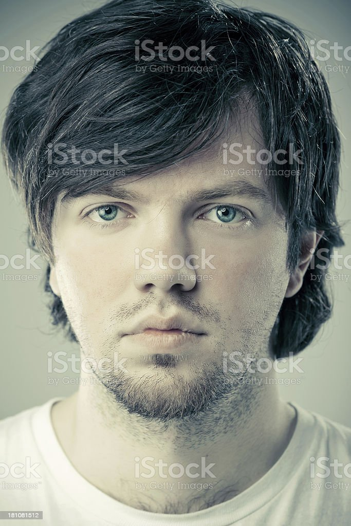 Young serious male closeup royalty-free stock photo