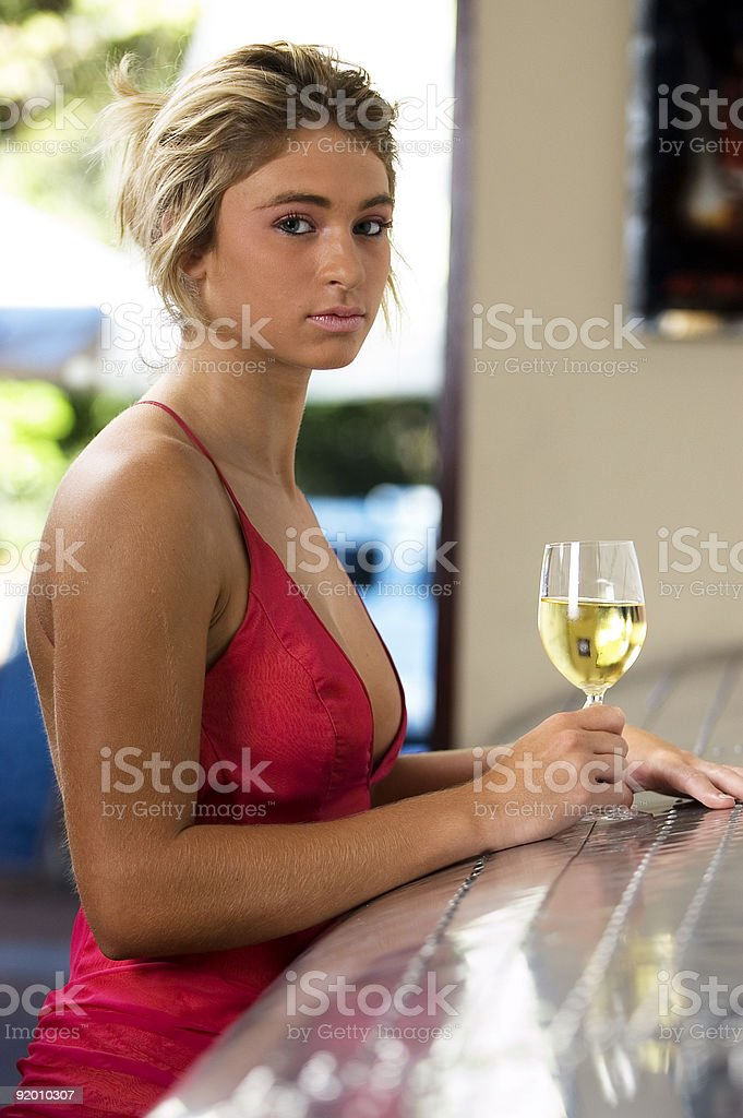 Young sexy blonde female royalty-free stock photo